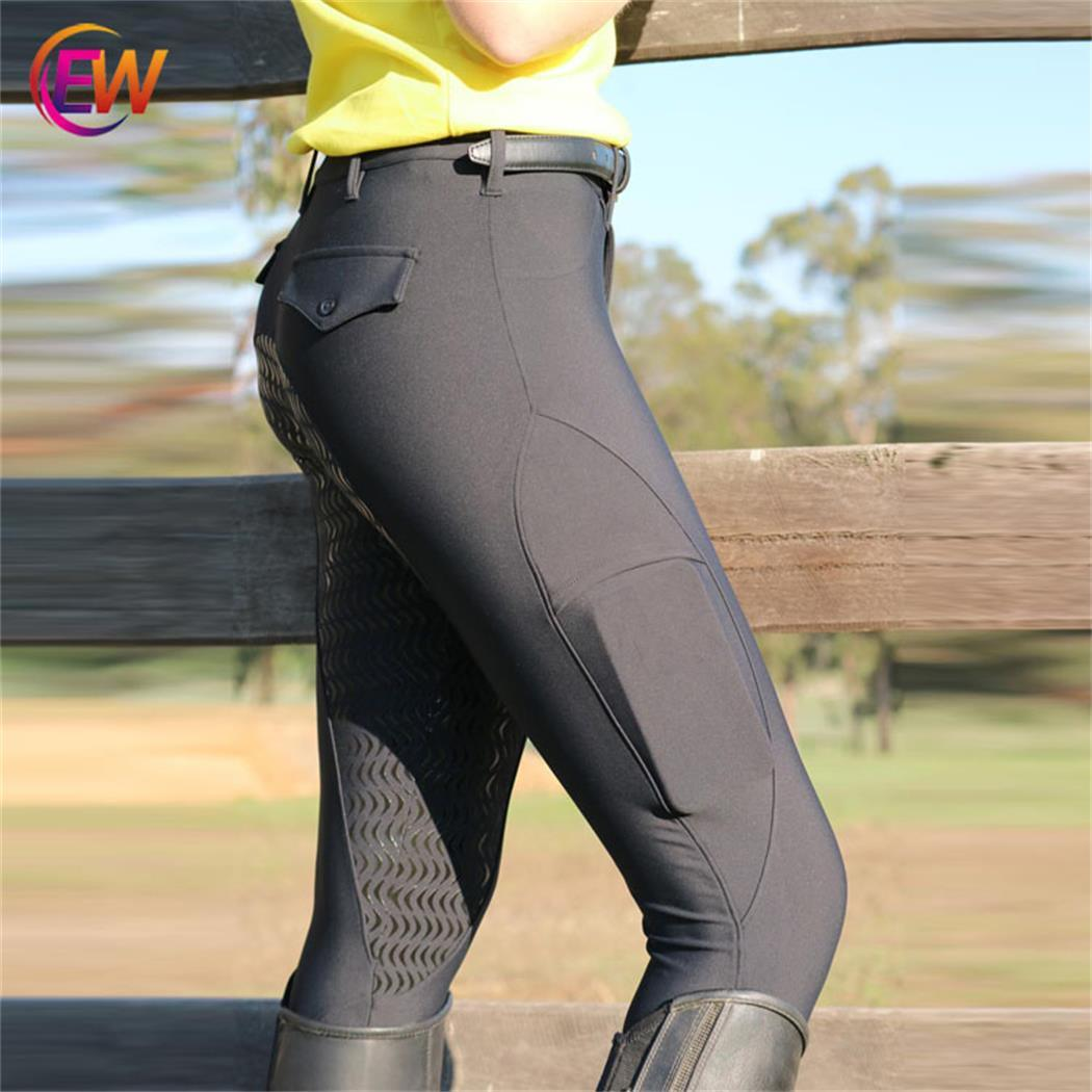 China Wholesale Custom Horse Riding Tights Women Silicone Grip Equestrian Horse Riding Breeches China Breeches Horse Riding And Horse Riding Breeches Fabric Price