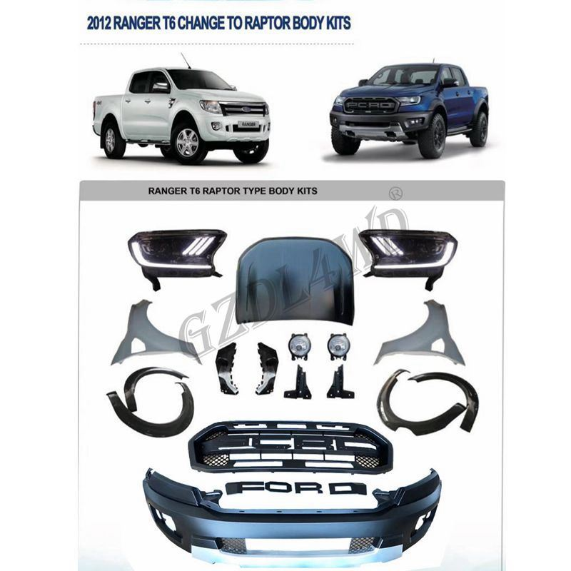 Hot Item 2012 2015 Ford Ranger To Raptor Conversion To 2018 Wide Body Kit