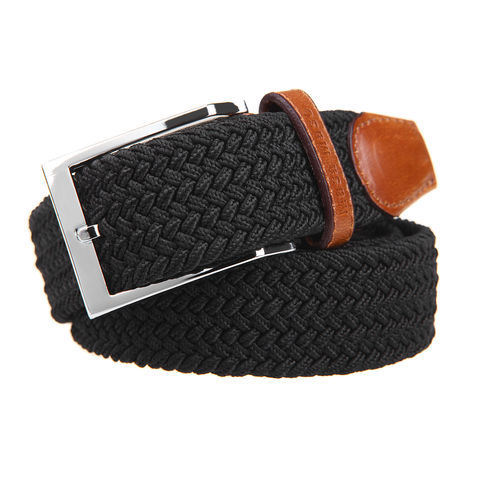 High Quality Leather and Cotton String Braided Man Belt (RS-131256B) pictures & photos
