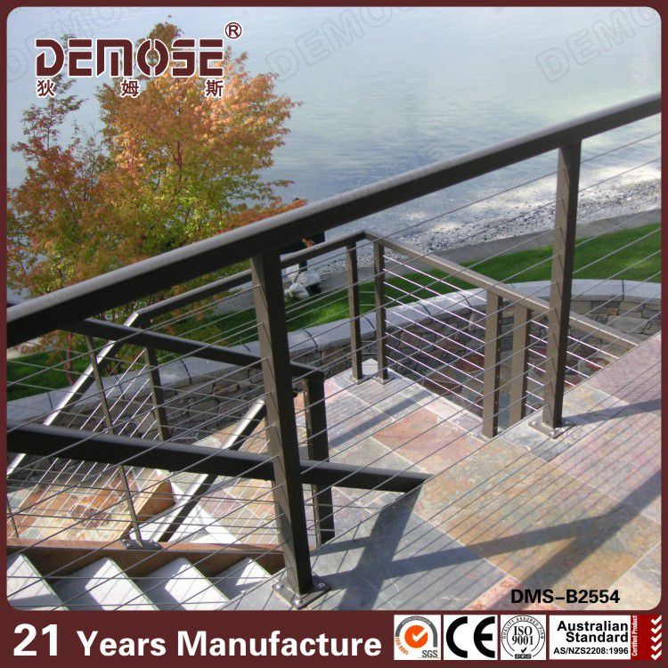 China Viewing Area Ss Wire Rope Railing (DMS-B2554) - China ...