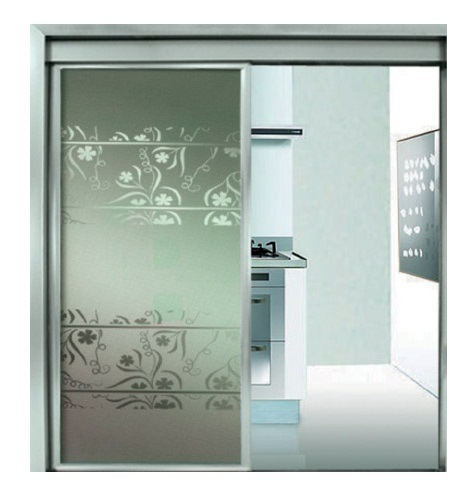 China Small Frameless Glass Residential Automatic Sliding Doors