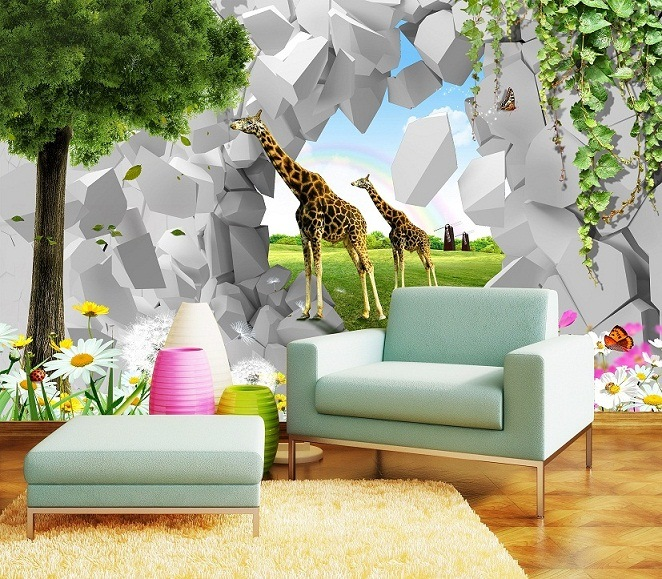 China Digital Printing 3D Effect Wallpaper For Kids Room   China Digital  Print Wallpaper, Wall Canvas