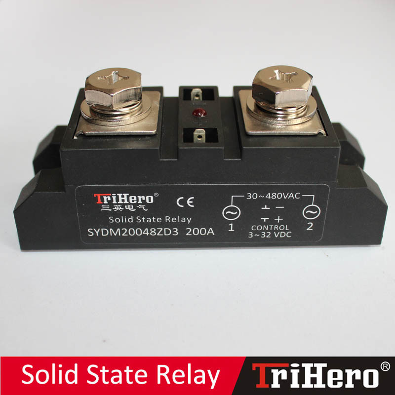 200A Industrial Class Solid State Relay, SSR-D200, DC/AC SSR