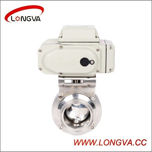 Ss Threaded Butterfly Valve with Aluminum Actuator