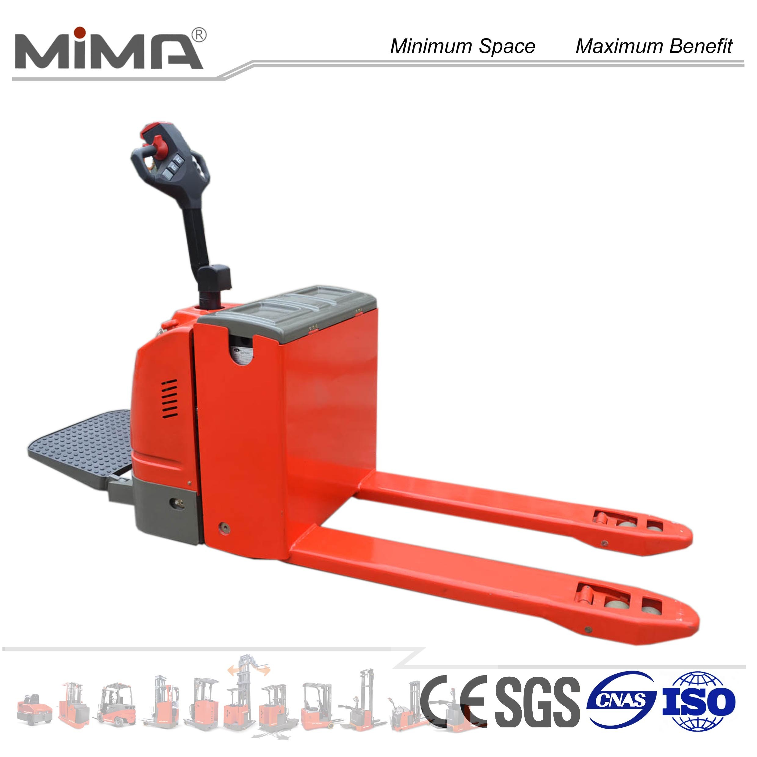 AC Driving Motor Electric Pallet Truck with Arm Rest pictures & photos