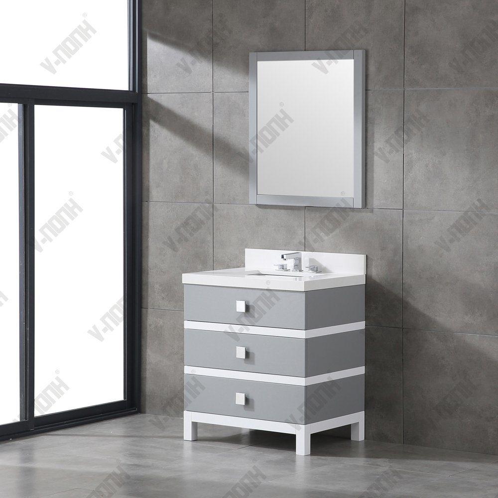 China Beautiful Solid Wood Complete Bathroom Vanity Sets China Vanity Sink Bathroom Cupboards For Bathrooms