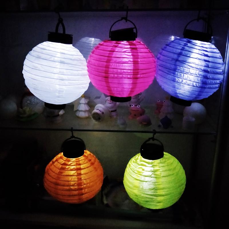 China Led Solar Lentern Cloth Lanterns Paper Lanterns For Outdoors