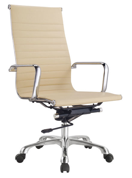 China Modern Design Metal Frame Brown White Leather Home Office Chairs China Computer Chair Leather Computer Chair