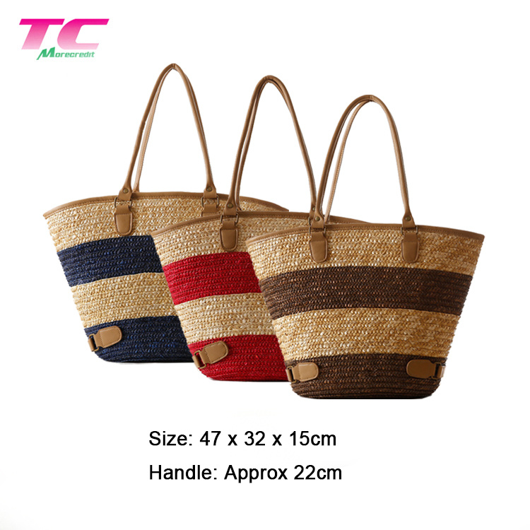 8abed3a4730eb China New Summer Trendy Bali Holiday Vacation Style Straw Bags Custom Straw  Beach Large Women Tote Shoulder Bag - China Women Bag, Beach Straw Bag