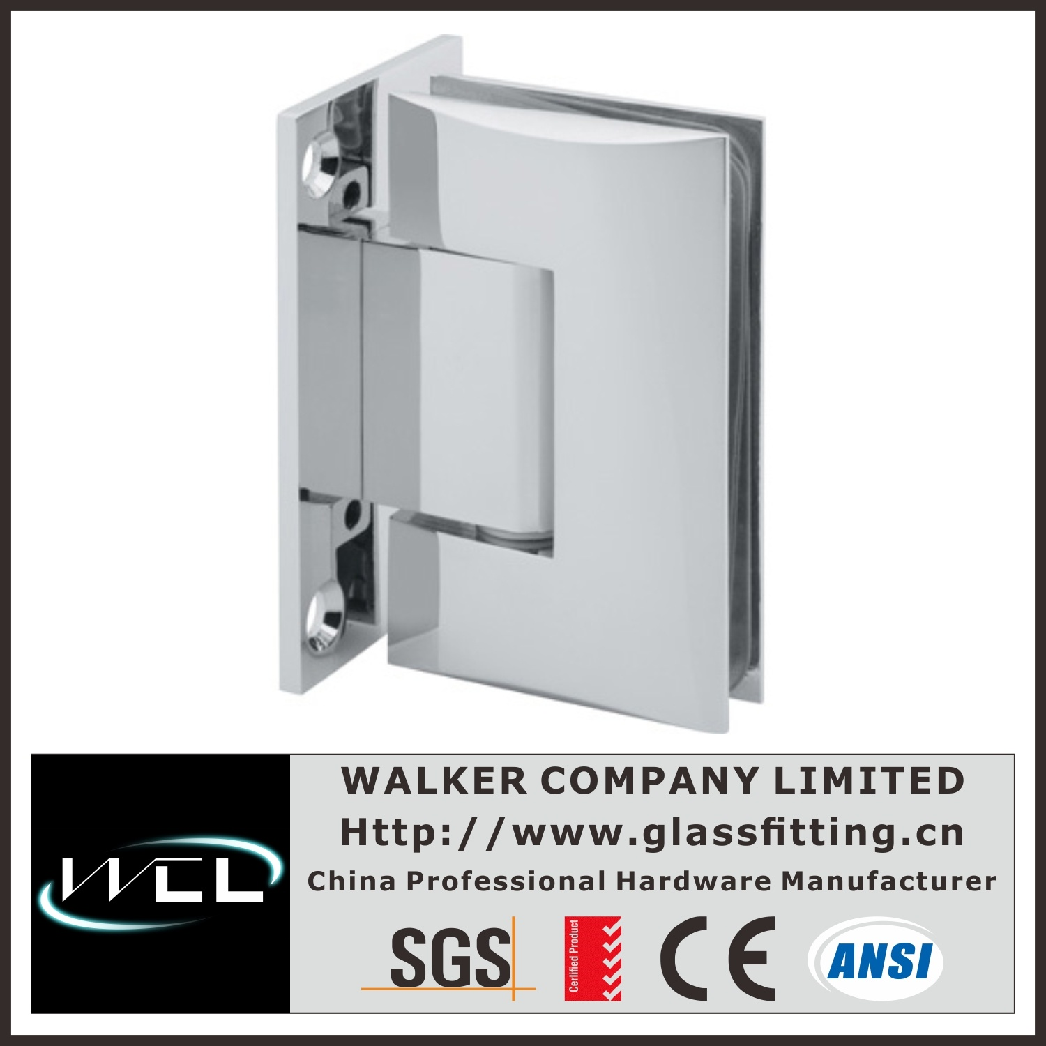 Hot Item Wall Mount 90 Degree Curved Shower Hinge Bh4001