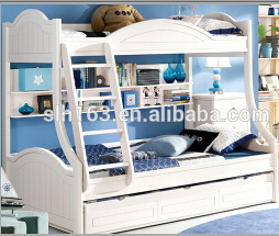 China Children Bunk Bed Solid Wood