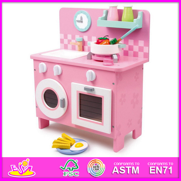 Kitchen Set For Sale: China 2014 Pink Wooden Kitchen Toy For Kids, Children