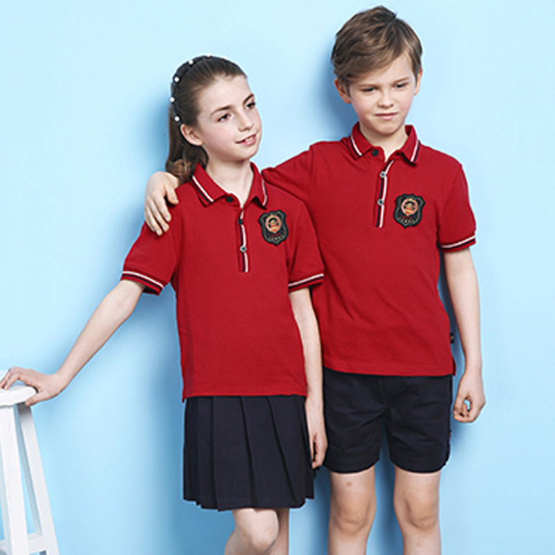 China Red Primary School Uniforms Kids School Uniform Design Photos ...