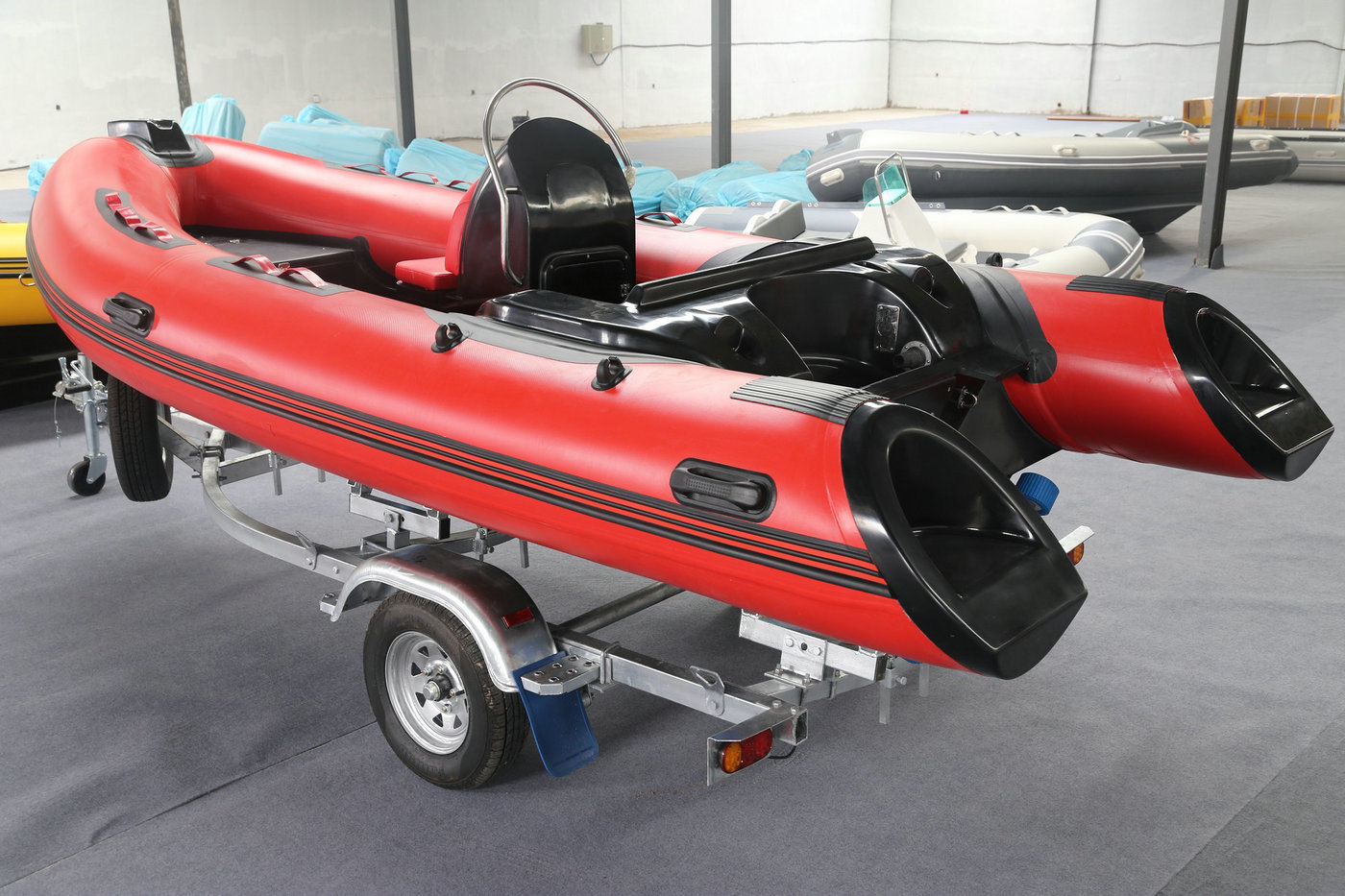 14FT Rib420c Recsue Boat with Ce 4.3m Fiberglass Hul Rigidl Inflatable Boat