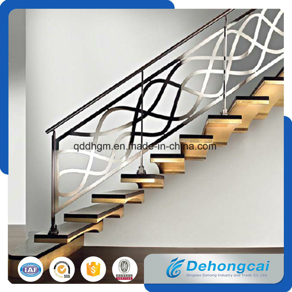 China Security Clical Wrought Iron Stair Railings Hand Rail Baer