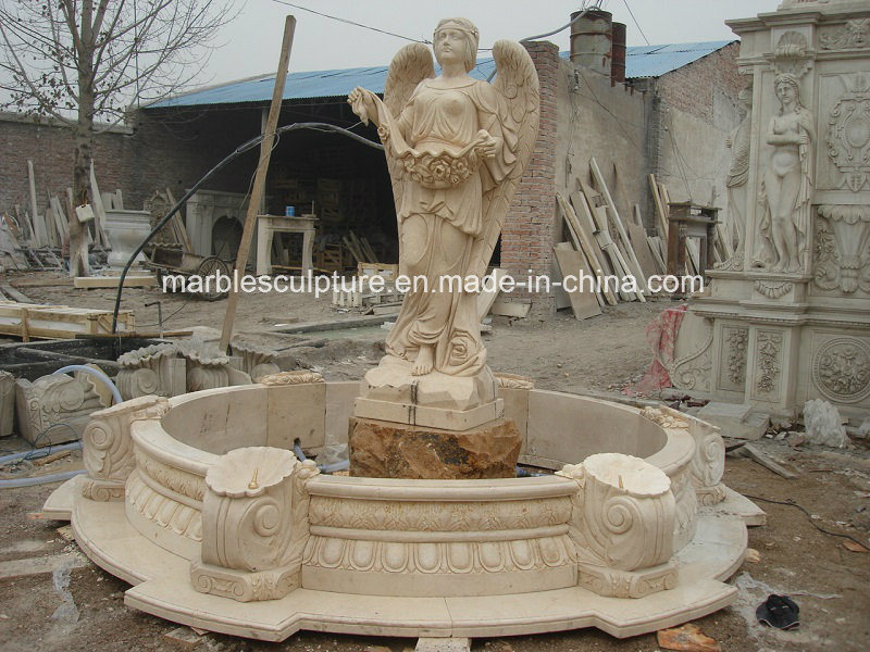 High Quality Lady Statue Marble Water Fountain (SY-108) pictures & photos