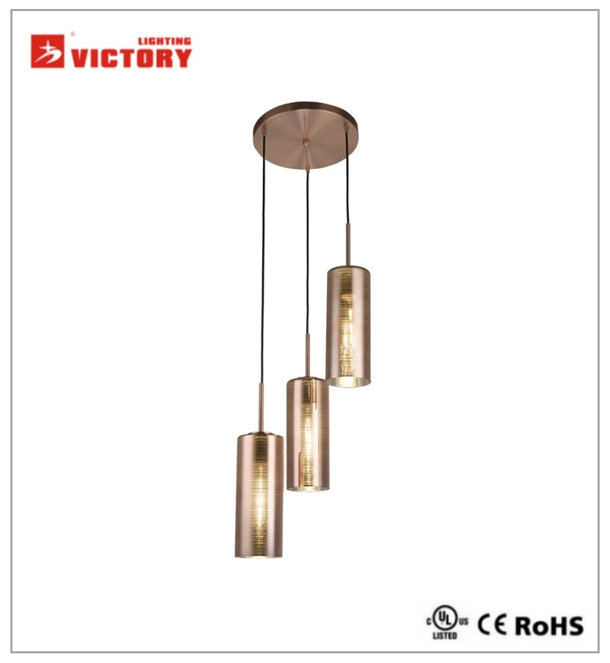 China Round Modern Glass Shade Pendant Light For America Market Lamp Hanging Lights