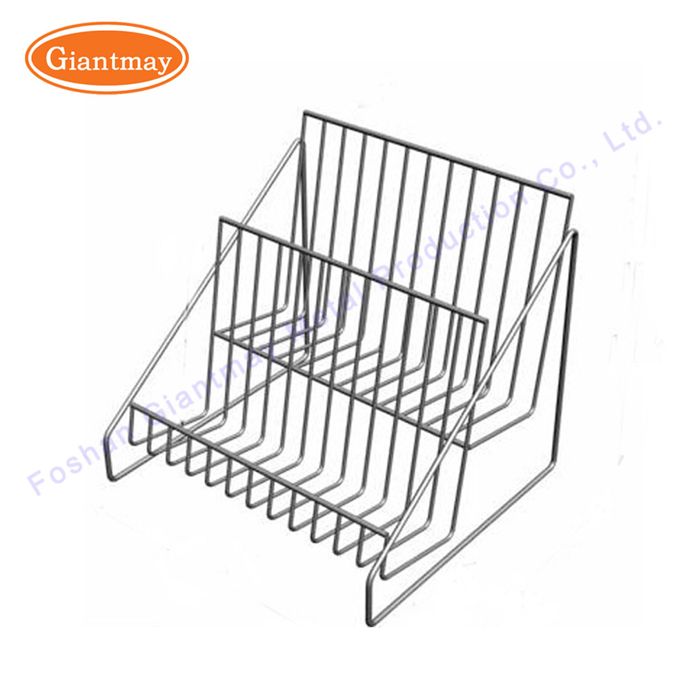 China 2 Tier Small Wire Basket Counter Metal Display Racks - China ...