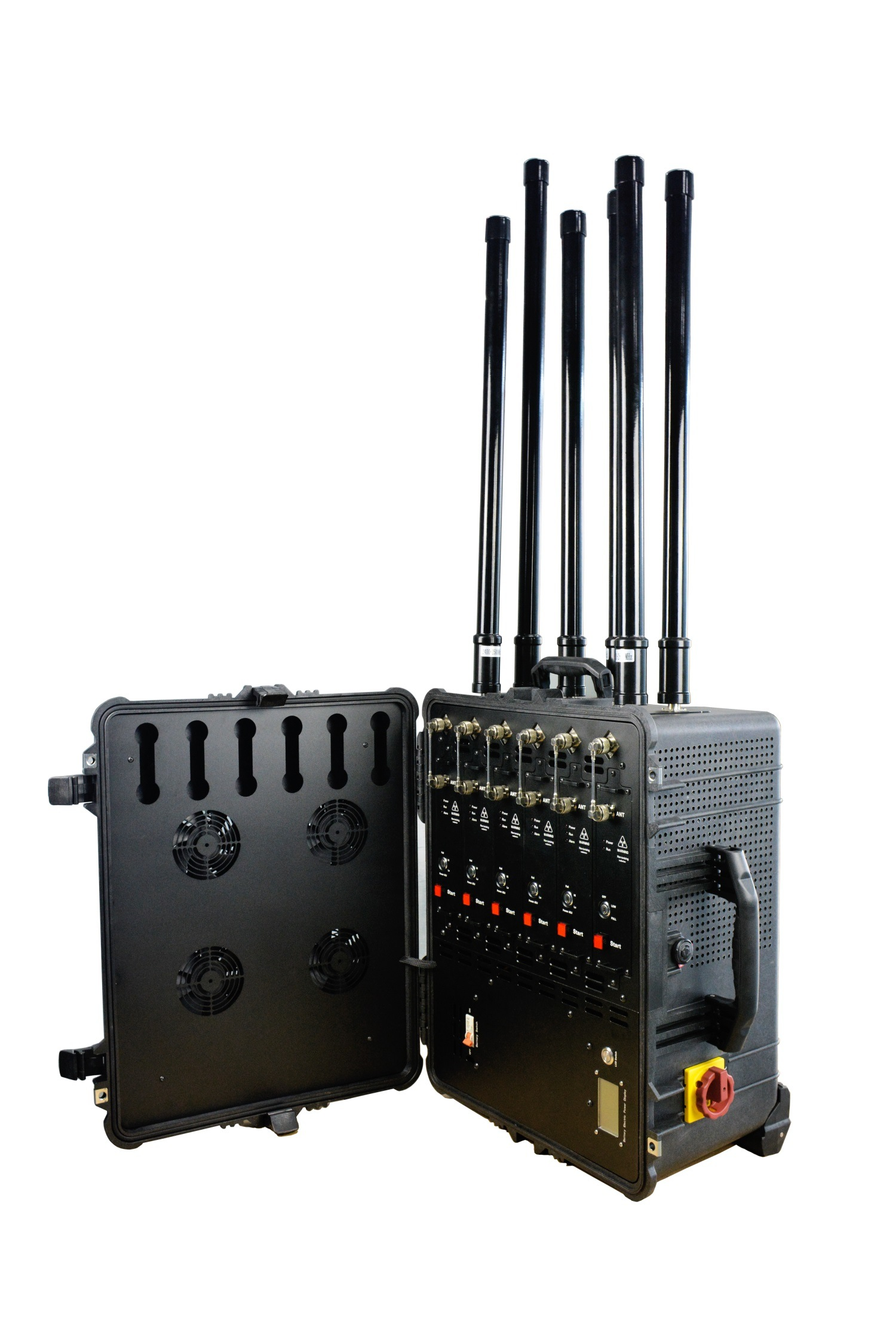 [Hot Item] Draw Bar Box Design High Power 2g 3G 4G All Cell Phone Signal  Jammer for Law Enforcement