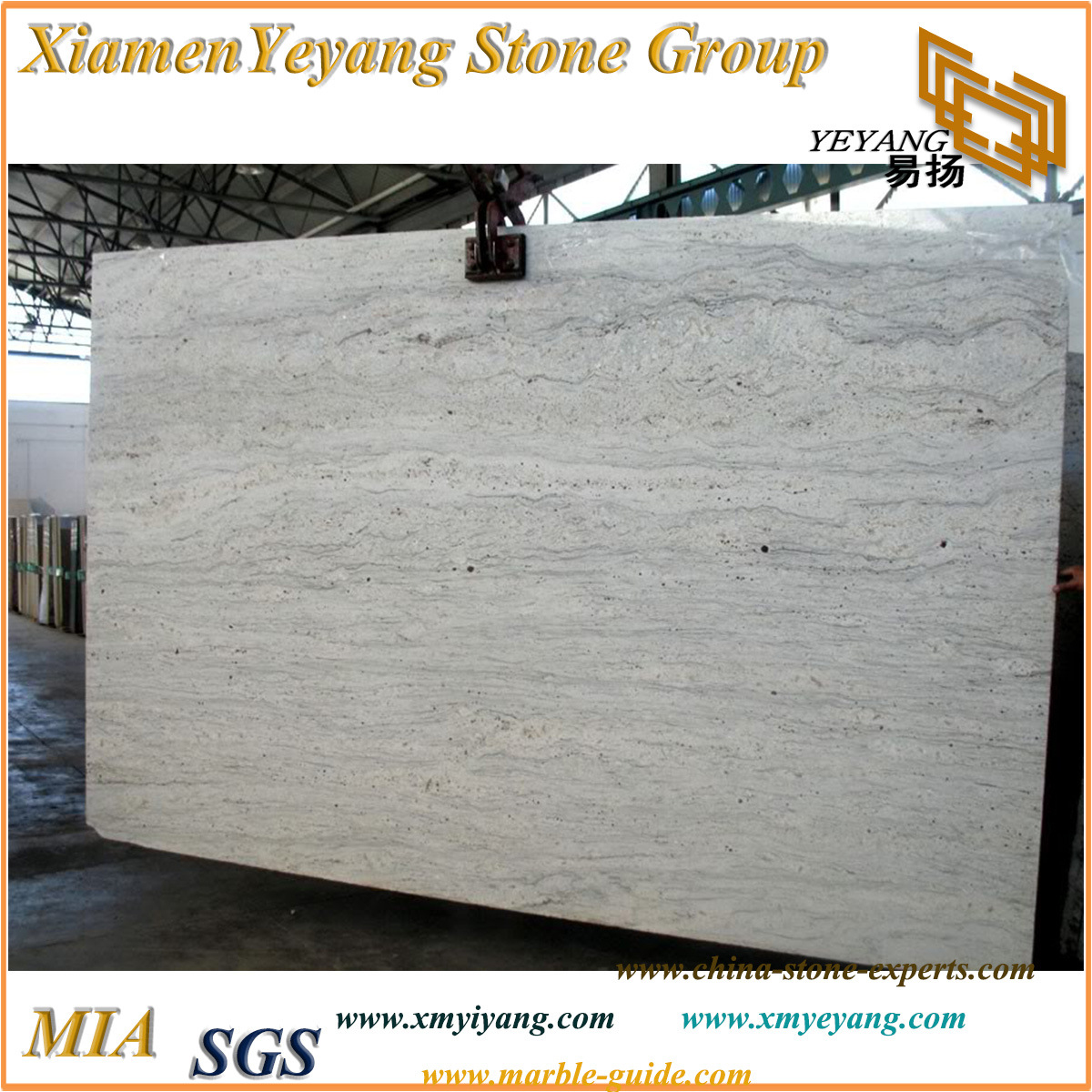 China River White Granite Slabs For Kitchenbathroom Countertops