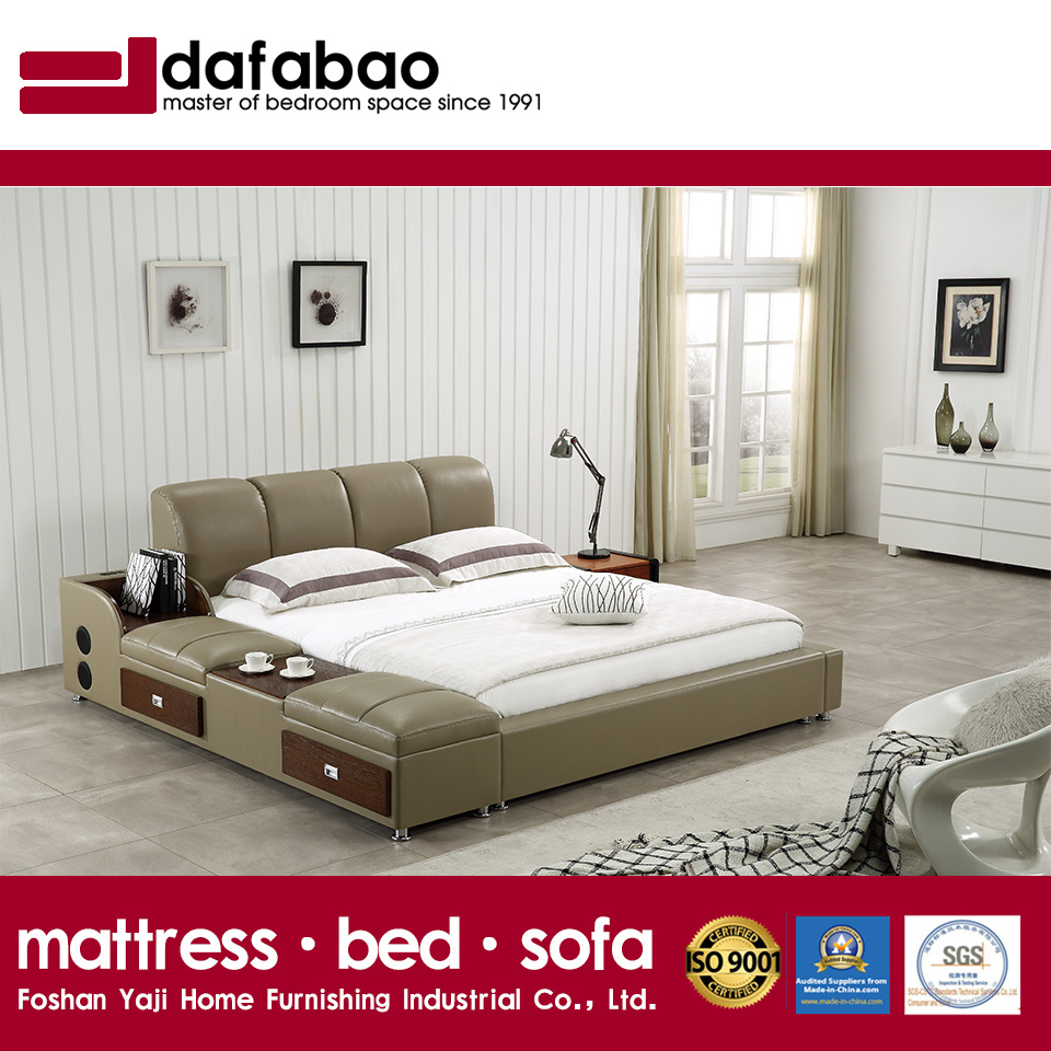 China New Style Modern Tatami Leather Bed For Bedroom Use Fb8048b Soft