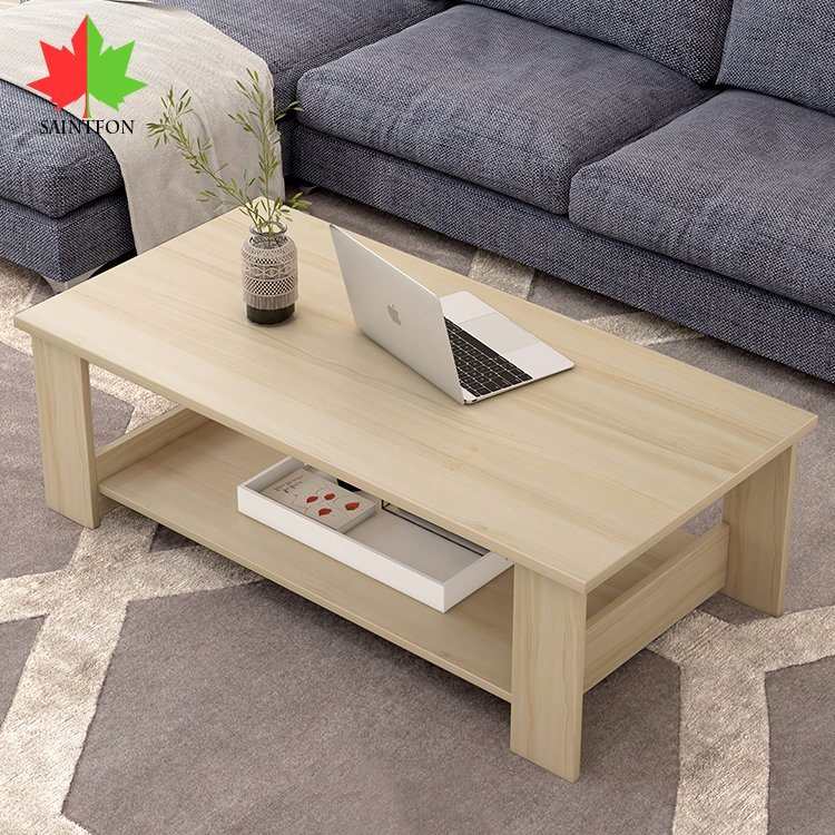 China Customized Modern Wooden Modern Tea Table Living Room Center Table Coffee Table China Wooden Coffee Table Sofas