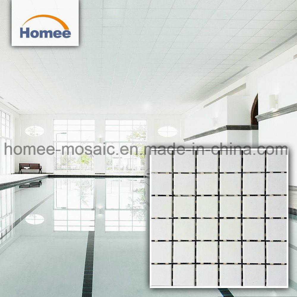China Cheap White Porcelain Indoor Swimming Pool Ceramic Mosaic ...