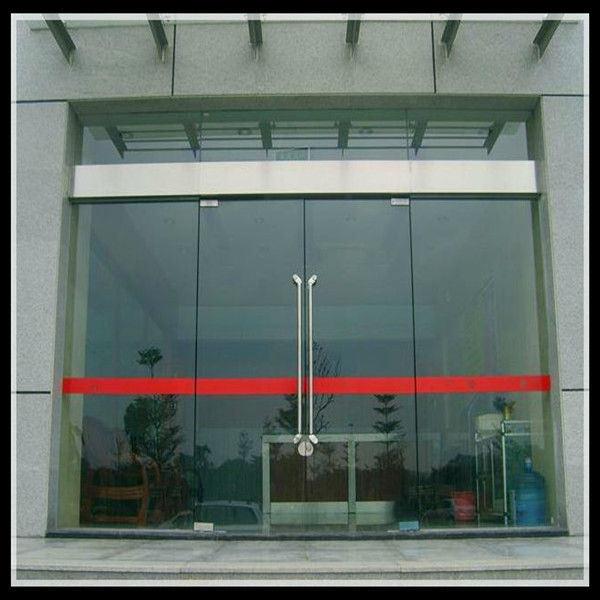 China Commercial Frameless Automatic Induction Sensor Glass Sliding