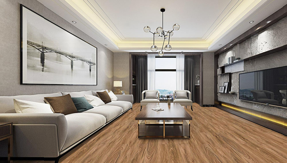 China Industrial Laminate Mdf Hdf Wood Floor Manufacture China