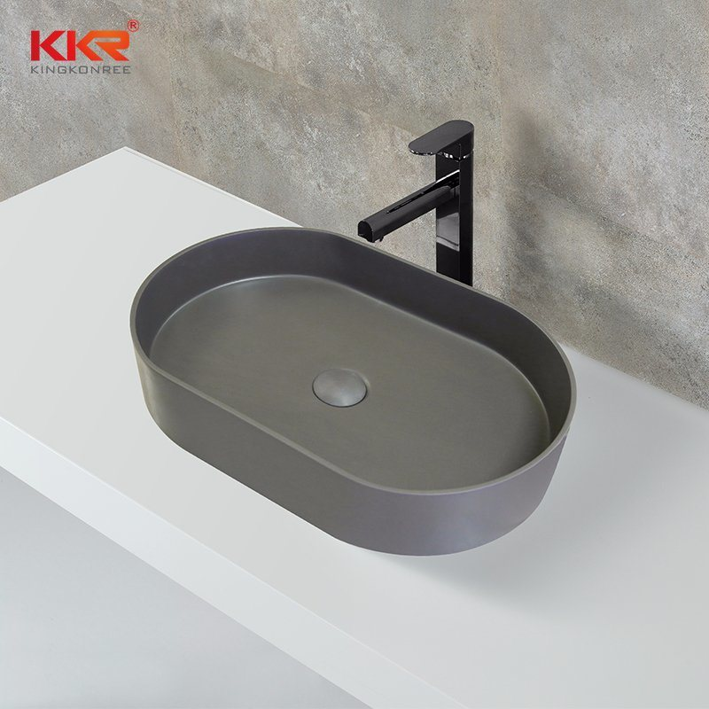 China Corian Solid Surface Small Size Vanity Table Top Wash Basins