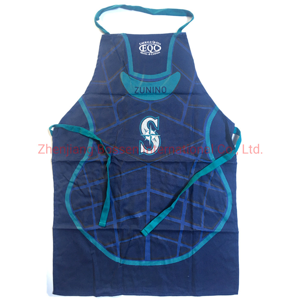 Customized Logo Screen Print Cotton Bib Apron pictures & photos