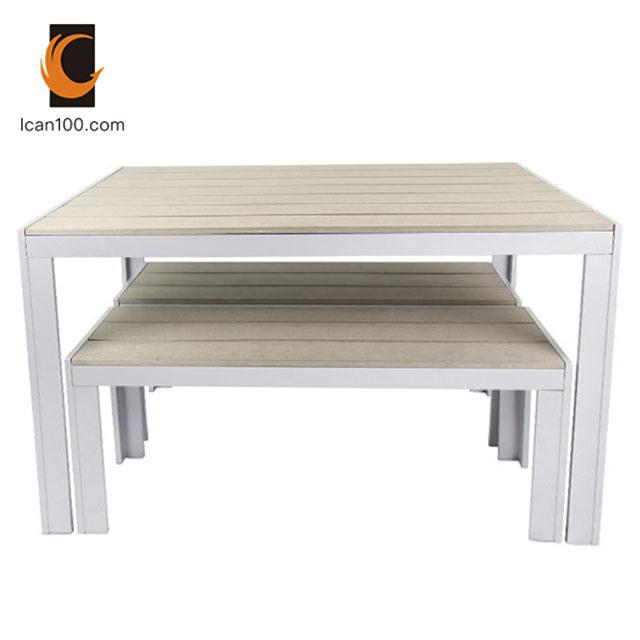 Garden Furniture, Wooden Bench Outdoor Table