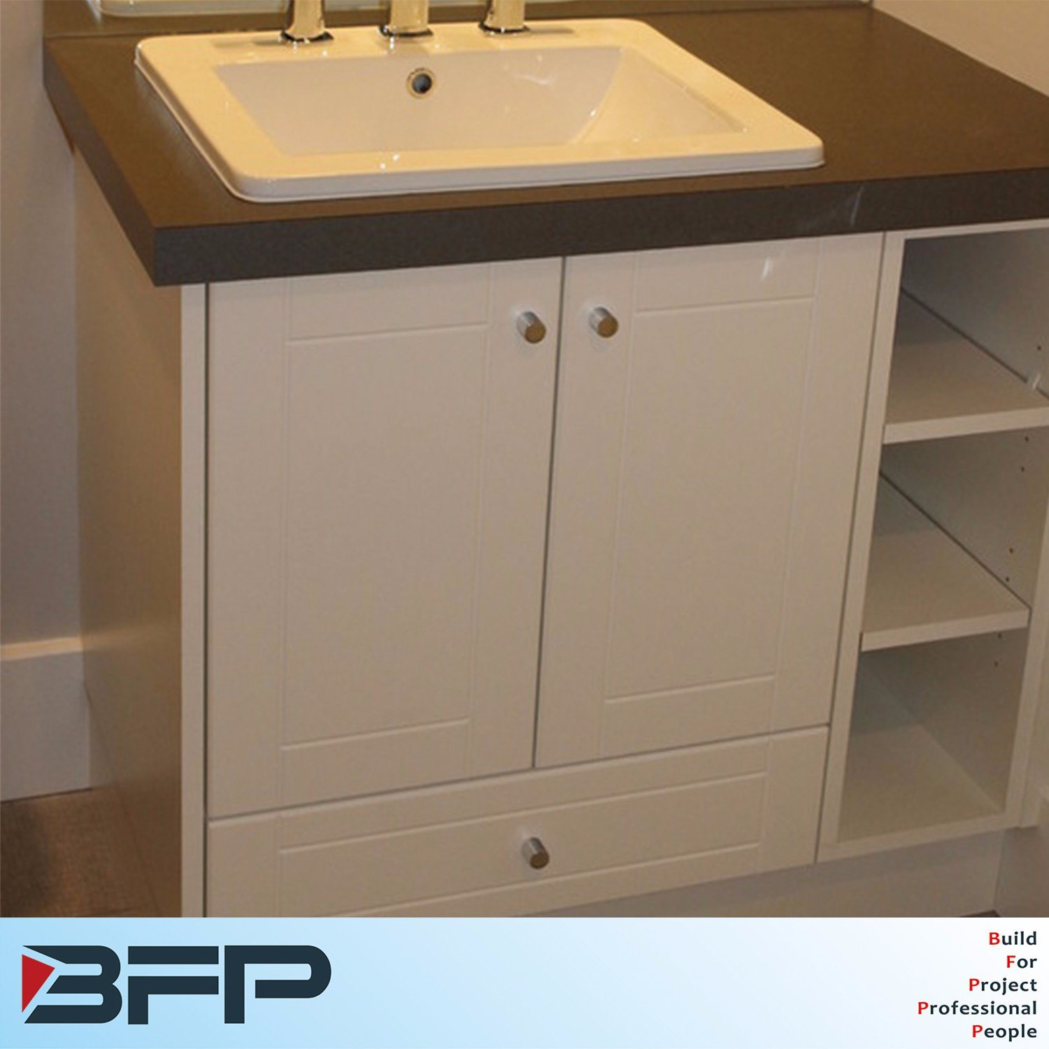 China Classic Style White Bathroom Cabinet Vanity Cupboard Units China One Drawer Single Sink