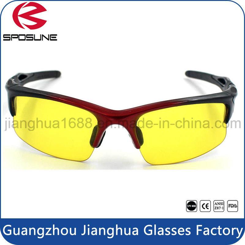 ef76156da7 Anti Radiation Blue Light Blocking Protective Eye UV 400 Night Vision  Glasses Yellow Lens Tennis Volleyball Running Climbing Sunglasses