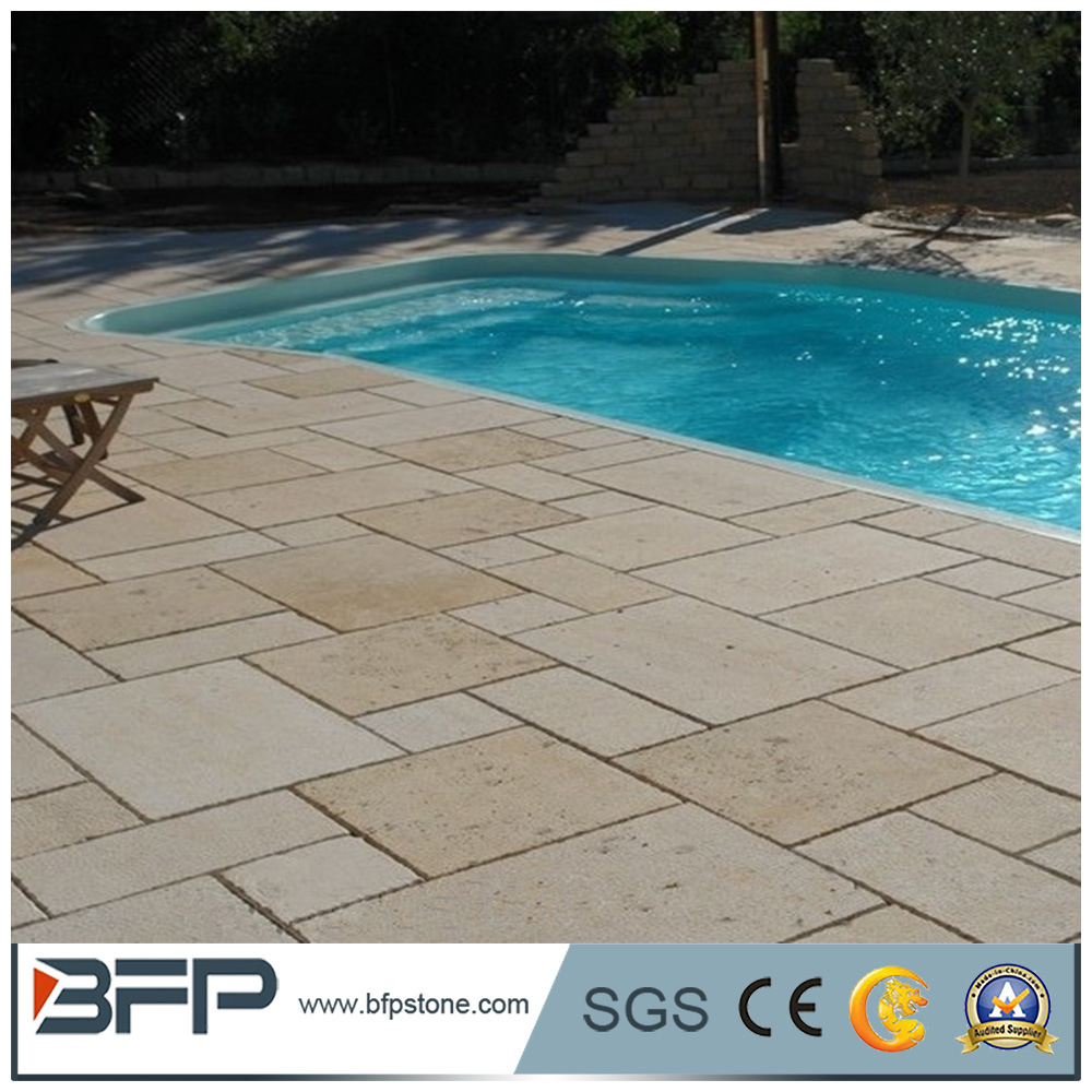 [Hot Item] Chinese Cheap Limestone Tiles for Swimming Pool Coping Stones