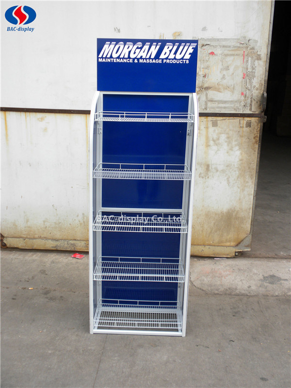 Customized Logo Metal Floor Shelf Stand Tools Exhibition Display Rack pictures & photos
