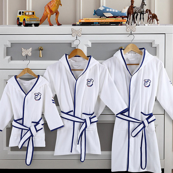 Cotton White Velour Children Bath Robes for Kids pictures & photos