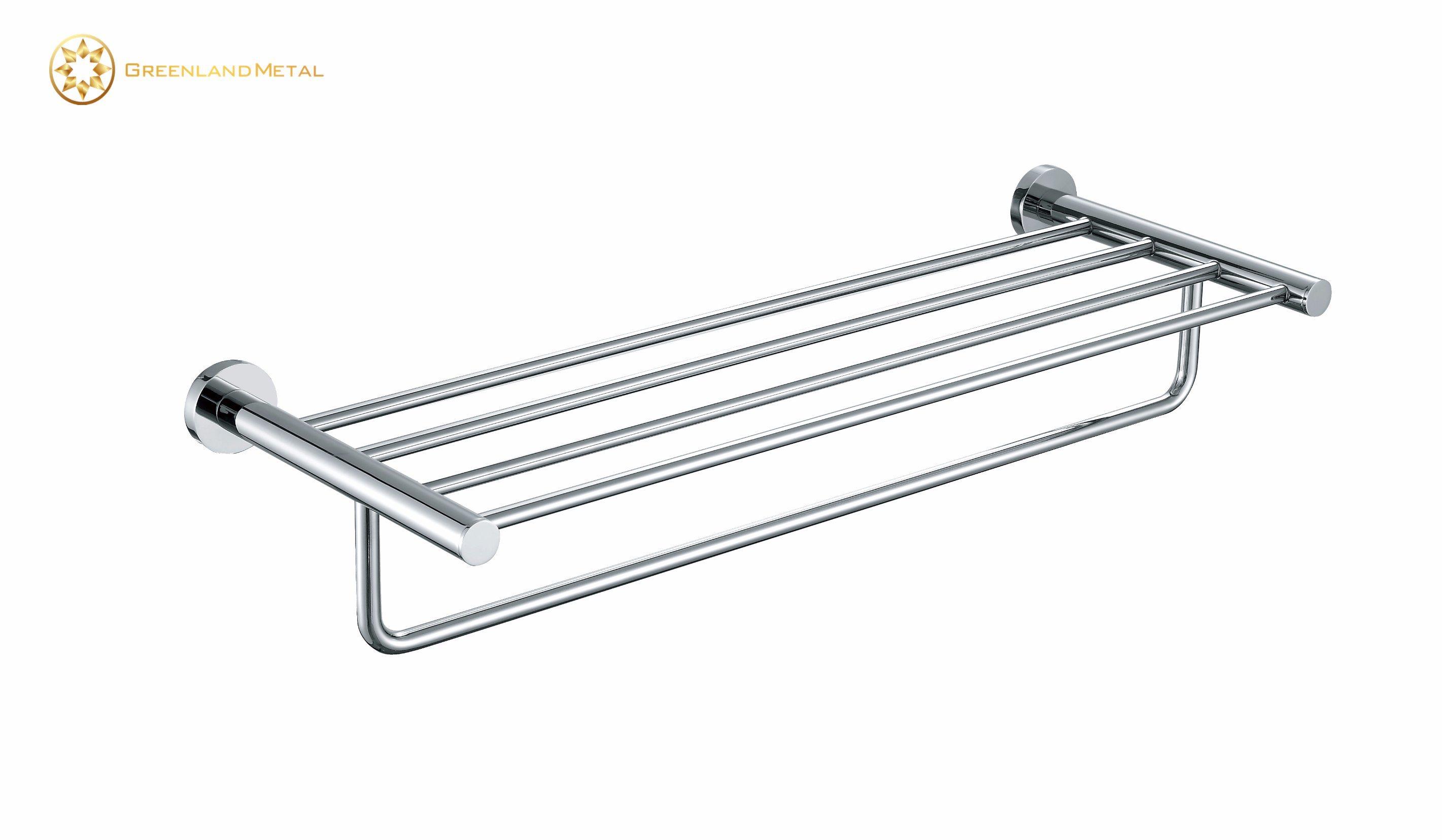 China Shower Shelf Towel Rack with Brass Metrial - China Towel Bar ...