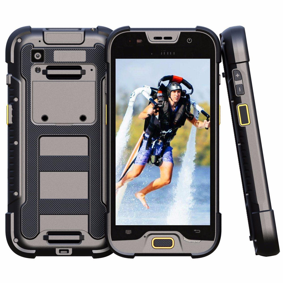 IP68 4G Lte Rugged Smart Phone with 1/2D Barcode Scanner Feature