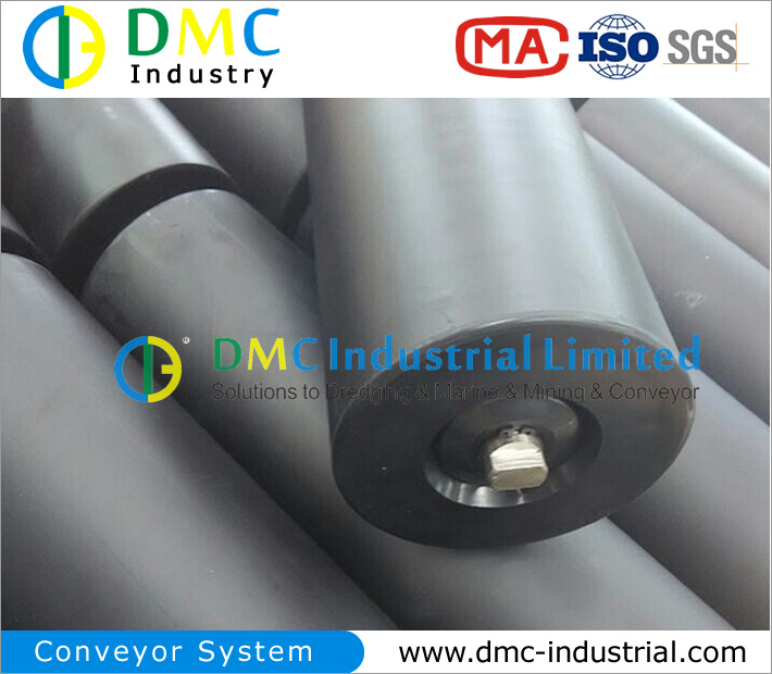 159mm Diameter Conveyor System HDPE Conveyor Idler Black Conveyor Rollers pictures & photos