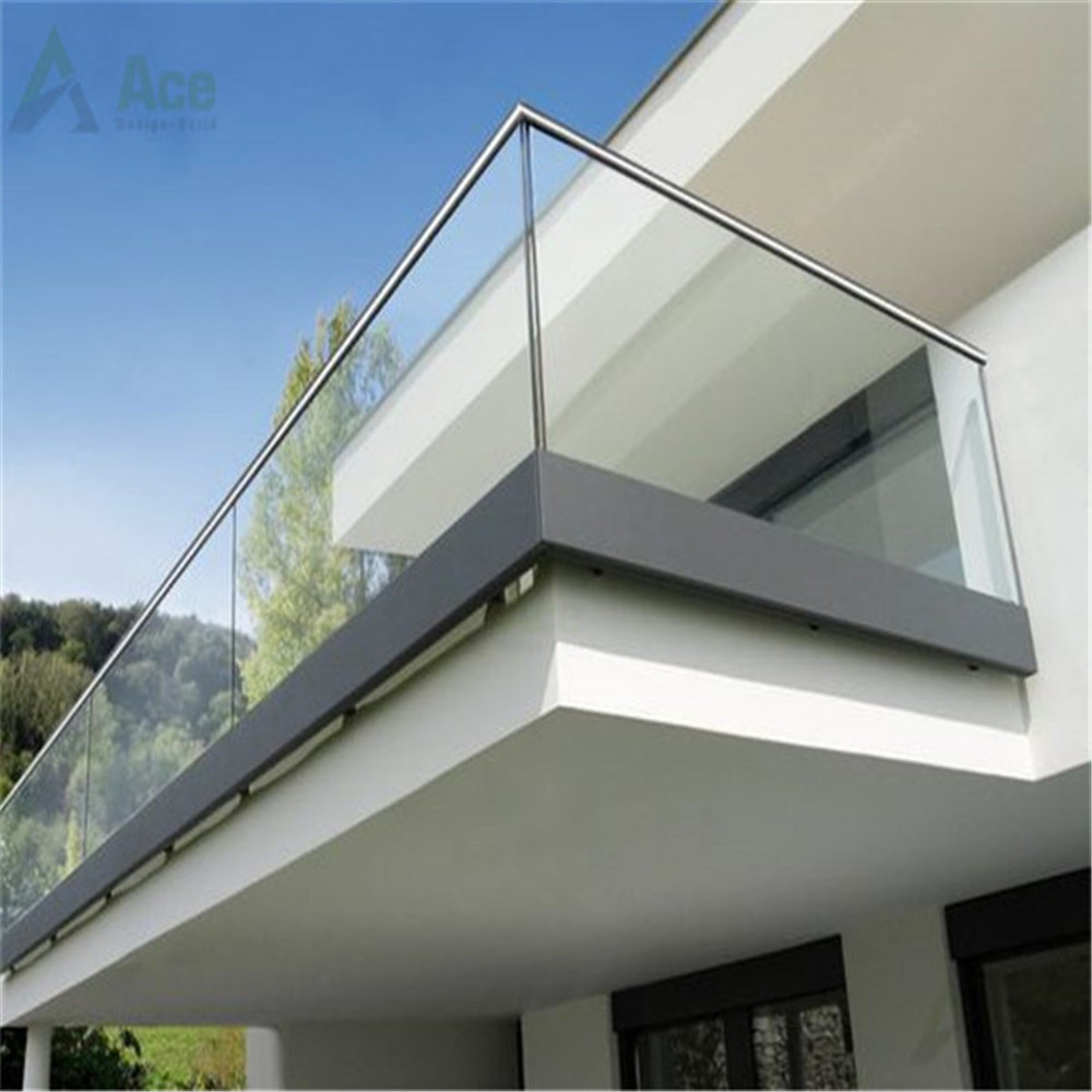 China Modern Balcony Railing Design Glass With Aluminium U Channel