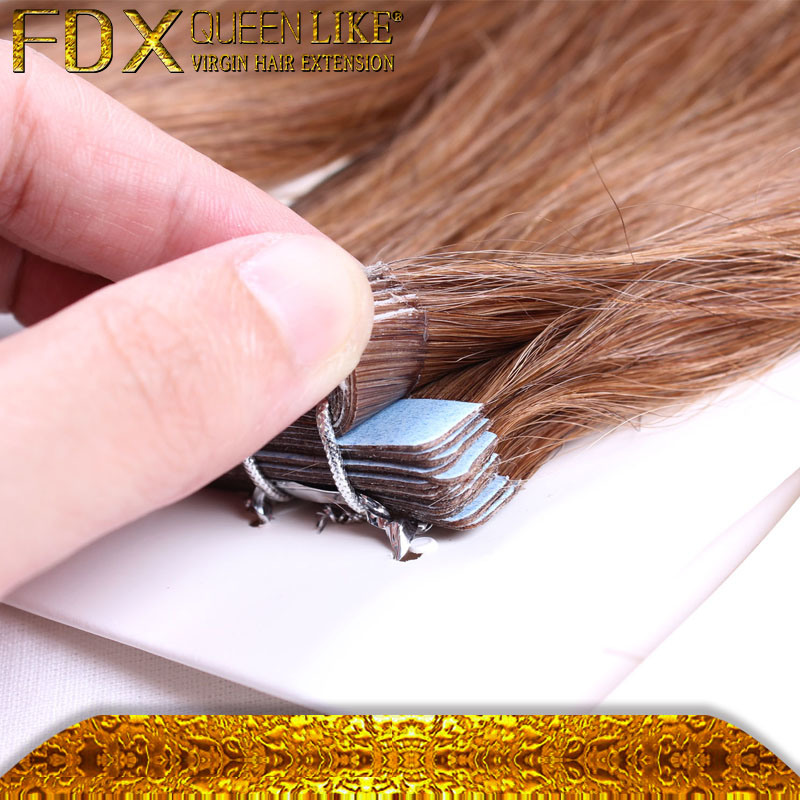 China Wholesale Price 7a Grade Russian Hair Tape Hair Extensions