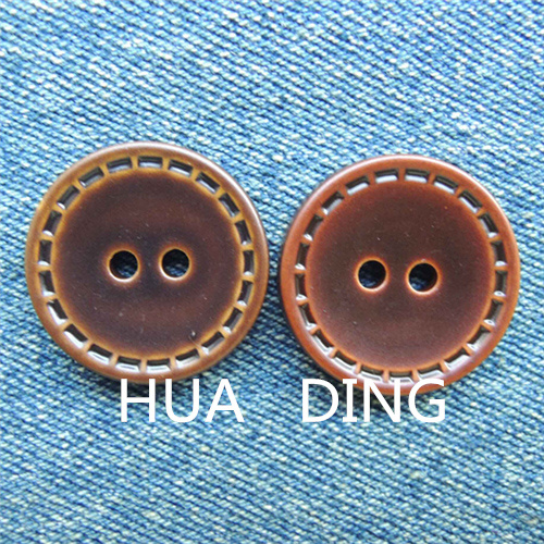 Beautiful 2-Hole Hand Stitch Button for Garment (AF044)
