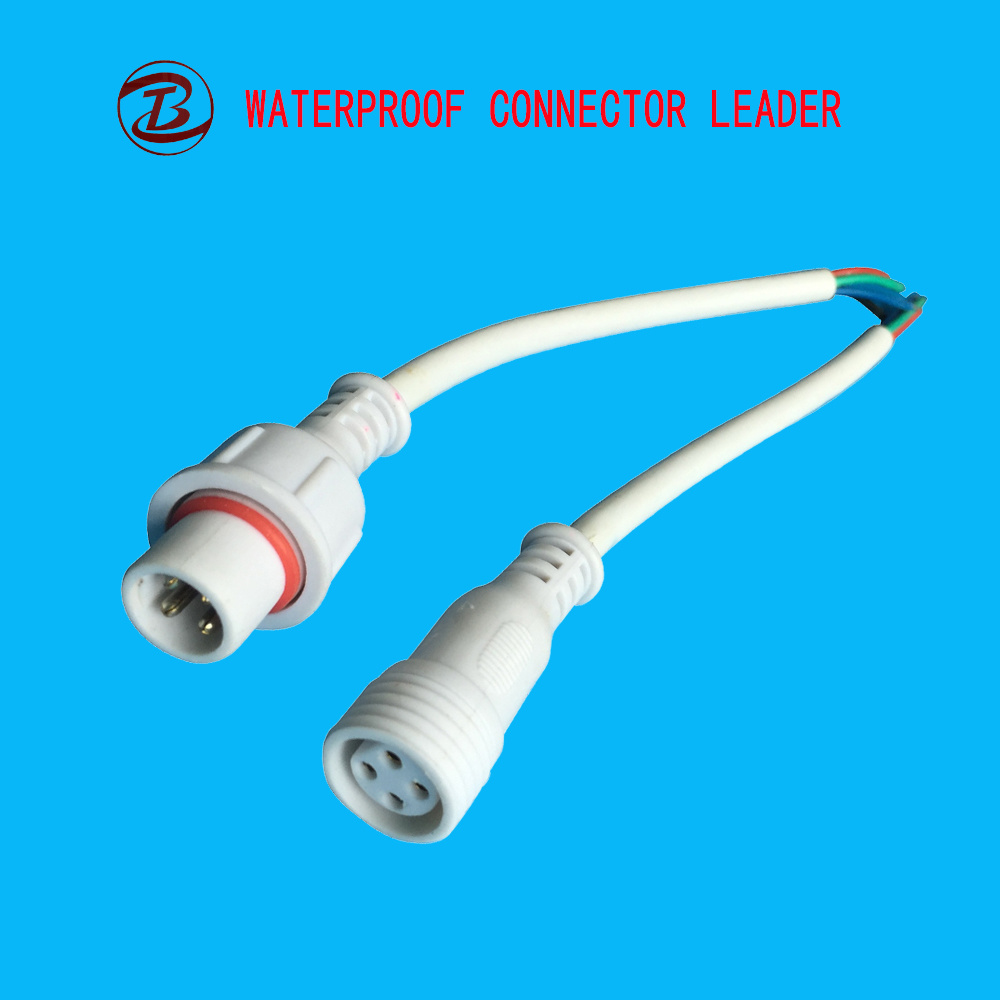 China 12mm Cable LED Connector 4 Pin Electrical Connecting Cables ...