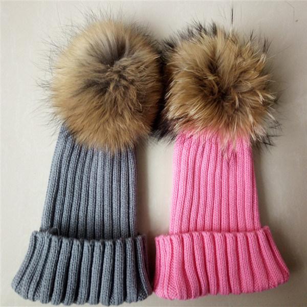 3ae21c67c7f China High Quality Knit Beanie Hat POM POM Custom Fur Hats Photos ...