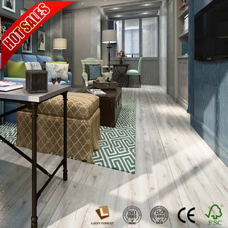 China Easy Install Lock Laminate Flooring Um Embossed 11mm Hardwood Building Material