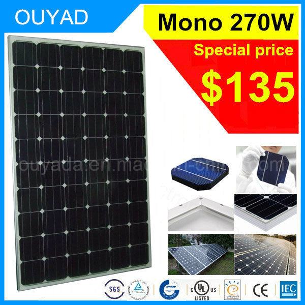 China Best Price of 270W Monocrystalline Solar Product