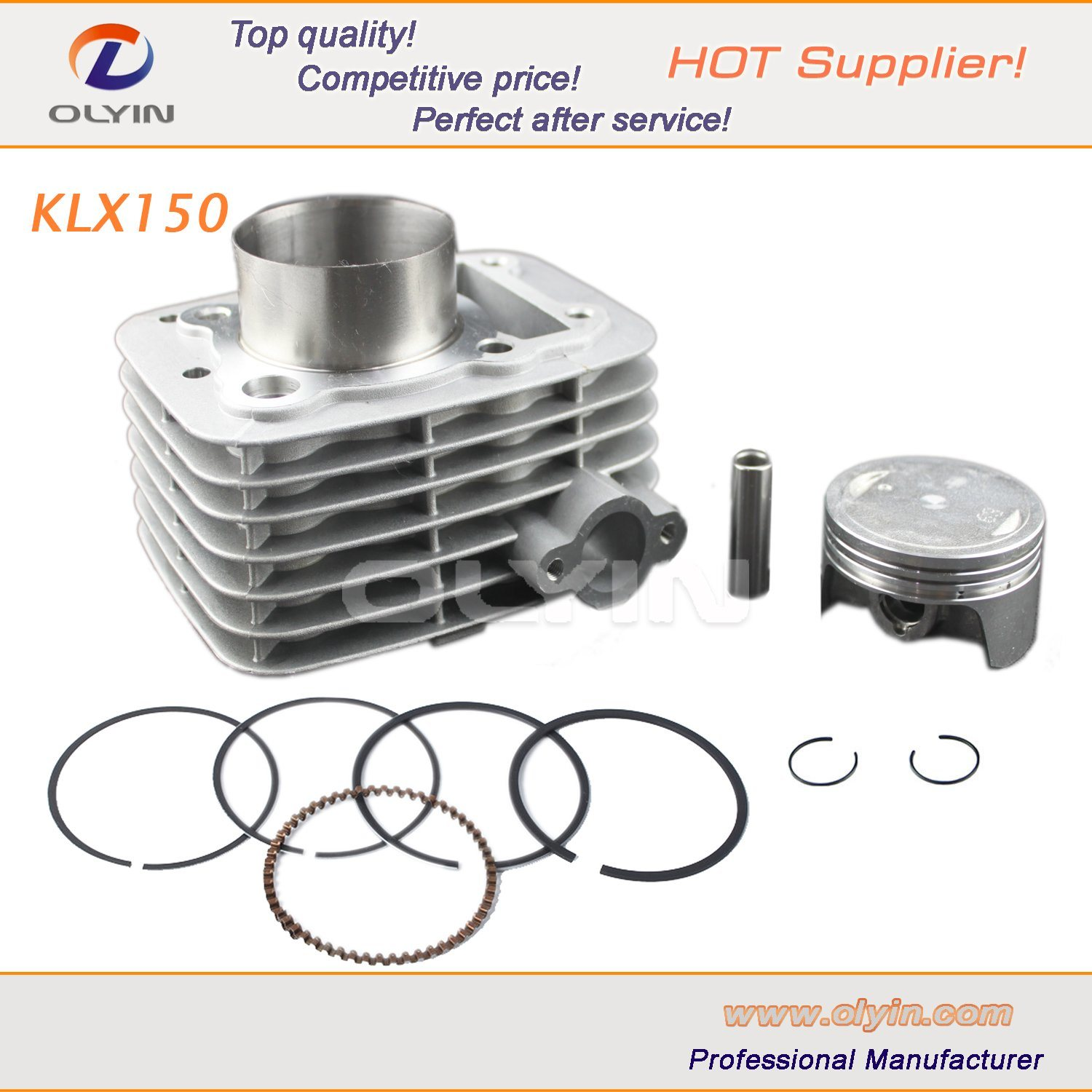 China Motorcycle Engine Parts, Klx150 Motorcycle Cylinder Kit for ...