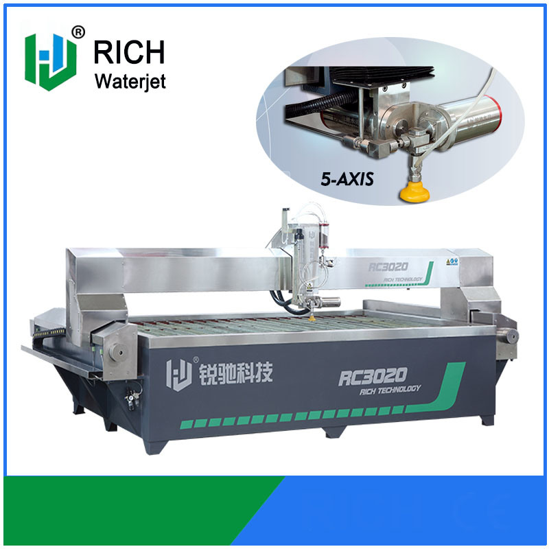 High Pressure 5 Axis CNC Waterjet Cutting Machine
