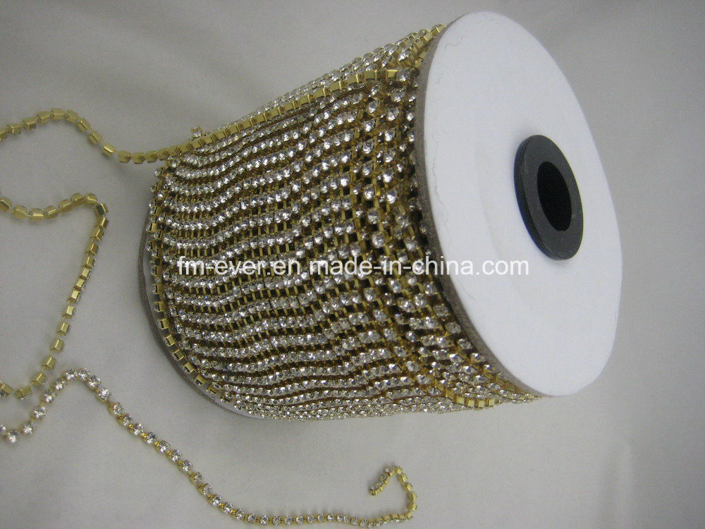 Wholesale Rhinestone Cup Chain, Rhinestone Chain Gold, Shoe Accessories